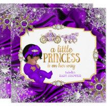Magical Princess Girl Baby Shower Purple Ethnic Invitation