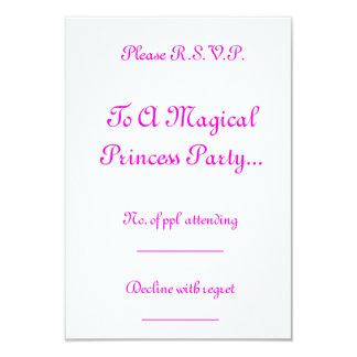 "Magical Princess Party R.S.V.P. 3.5"" X 5"" Invitation Card"