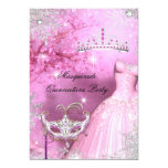 Magical Princess Quinceanera Masquerade Pink 2 5x7 Paper Invitation Card