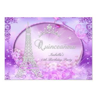 Magical Princess Quinceanera Purple Pink Tiara Card