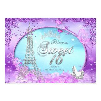 Magical Princess Sweet 16 Purple Teal Blue Card