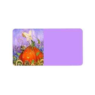 Magical Pumpkin and Little Friends Address Label
