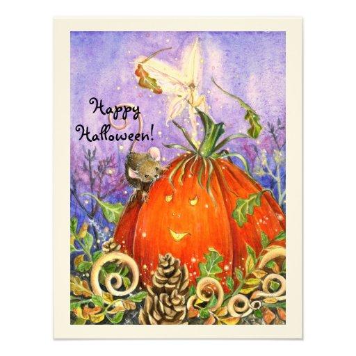 Magical Pumpkin and Little Friends Invitation