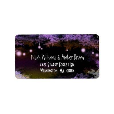 Magical Purple Forest Wedding Return Address Label
