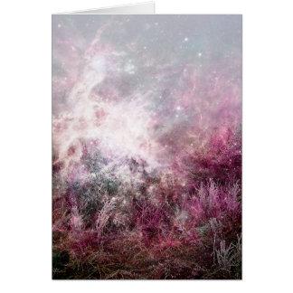 Magical Purple Pixie Dust Nebula Wilderness Card