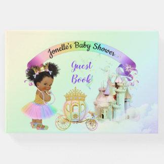 Magical Rainbow Princess Castle Carriage Guest Book