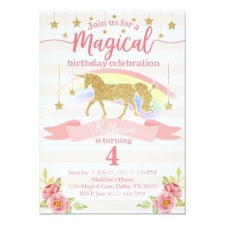 Unicorn birthday party invitations tropical papers magical rainbow unicorn birthday party invitation filmwisefo