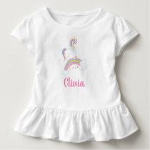 Magical Rainbow Unicorn Birthday Personalized Toddler T-shirt