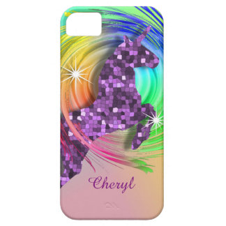Magical Rainbow Unicorn Personalized iPhone SE/5/5s Case