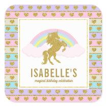 Magical Rainbow Unicorn Stickers