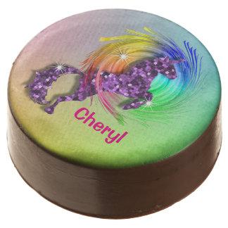 Magical Rainbow Unicorn Themed Party Chocolate Dipped Oreo