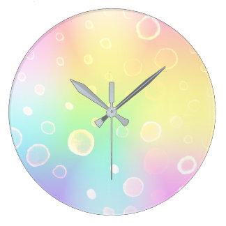 Magical Rainbow Wedding Large Clock