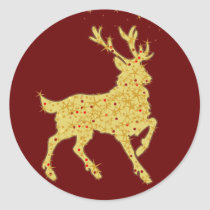 Magical Reindeer gifts Classic Round Sticker