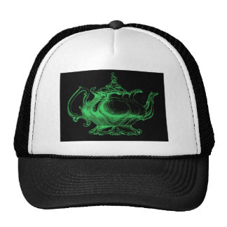 Magical Retro Green Altered Light Victorian Teapot Hats