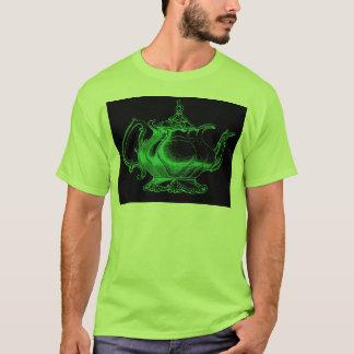 Magical Retro Green Altered Light Victorian Teapot T-Shirt
