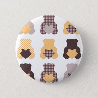Magical retro Teddy Bears Collection Button
