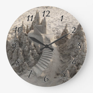 Magical Sand Castle Large Clock