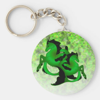 Magical Sea Horse Collection #2 Basic Round Button Keychain