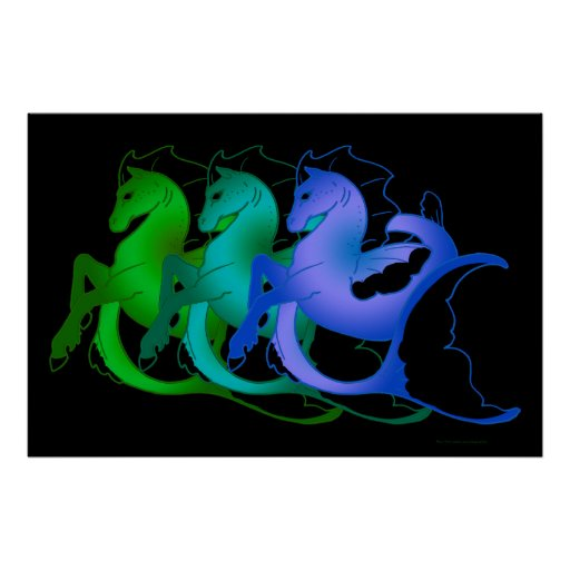 Magical Sea Horse Collection #2 Posters