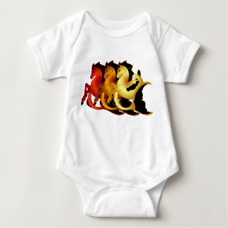 Magical Sea Horse Collection Baby Bodysuit
