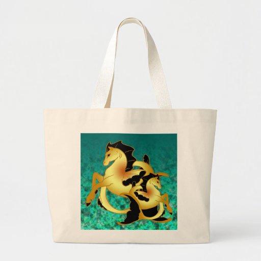 Magical Sea Horse Collection Jumbo Tote Bag