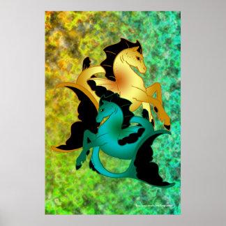Magical Sea Horse Collection, Mixed Poster