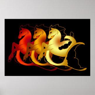 Magical Sea Horse Collection Poster