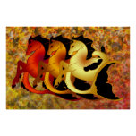 Magical Sea Horse Collection Posters