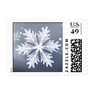 magical snowflakes festive winter holidays stamps