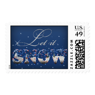magical snowflakes let it snow holidays stamps