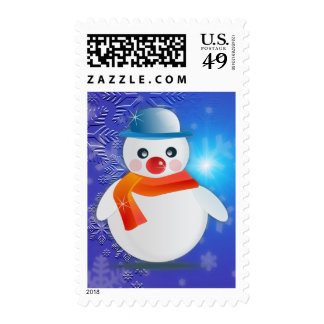 Magical Snowman Postage Stamps