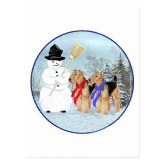 Magical Snowman Postcard