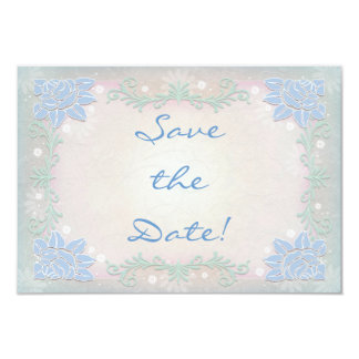 Magical Spring Flowers Wedding Save the Date Card