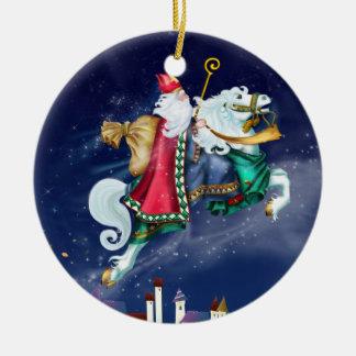 Magical St. Nicholas -  Santa - SRF Christmas Ornament