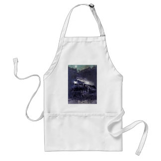 Magical Steam Engine Victorian Train Adult Apron