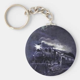 Magical Steam Engine Victorian Train Basic Round Button Keychain