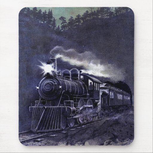 Magical Steam Engine Victorian Train Mouse Pad