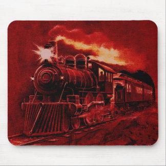 Magical Steam Engine Victorian Train Mousepads