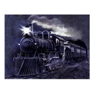 Magical Steam Engine Victorian Train Postcard