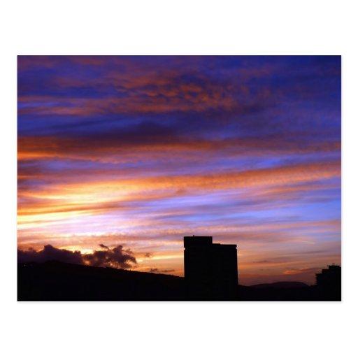 Magical sun rise in Hawaii Postcard