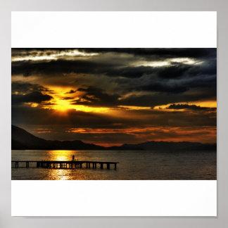 magical sunset print