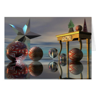 Magical surrealistic Christmas / New Year card