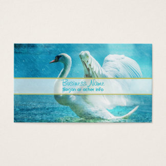Magical Swan During a Summer Shower Business Card