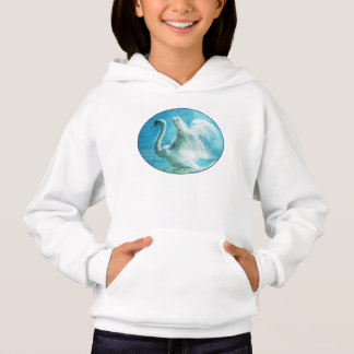 Magical Swan During a Summer Shower Hoodie