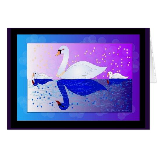 Magical Swan Lake by Debbie Jensen Card