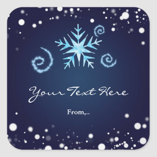 Magical Swirl Winter Wonderland Snowflake Sticker