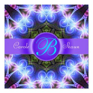 "Magical Swirls Fractal Art Invitation 5.25"" Square Invitation Card"
