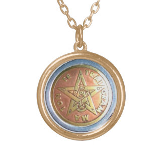MAGICAL TETRAGRAMMATION CHARM GOLD PLATED NECKLACE