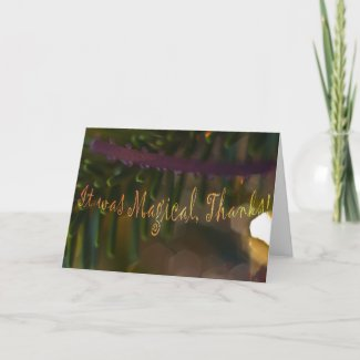 Magical Thank You Card card
