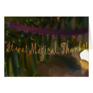 Magical Thank You Card